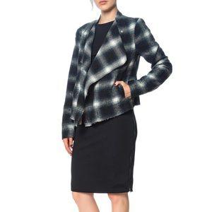BB Dakota Jackets & Coats - BB Dakota Quinn Plaid Moto Jacket Blue/Black Sz XS
